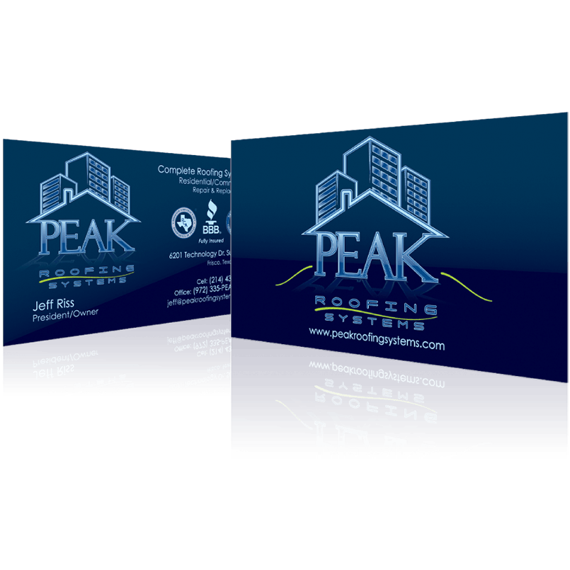 Peak Roofing Systems - Business Card Design
